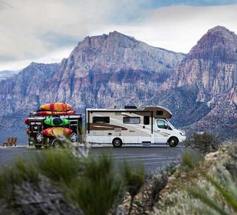 RV boondocking in the mountains